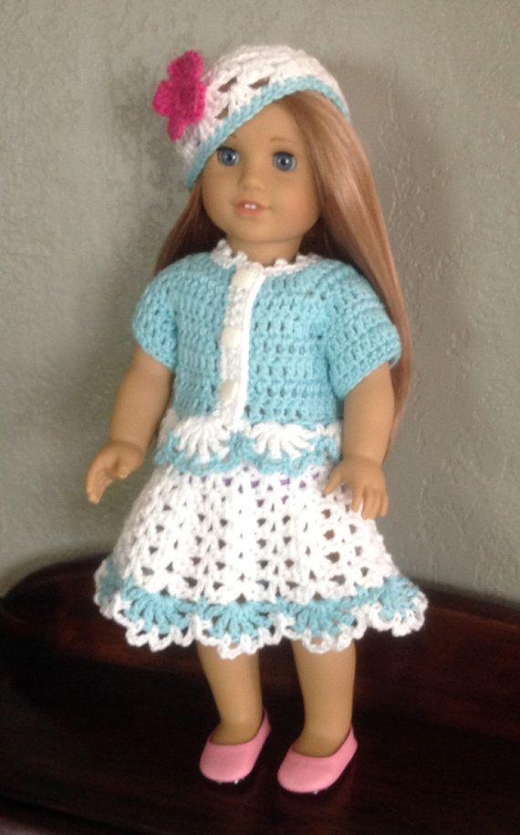 American Girl Crochet PATTERN | Vestidos de muñecas, Muñecas y Traje