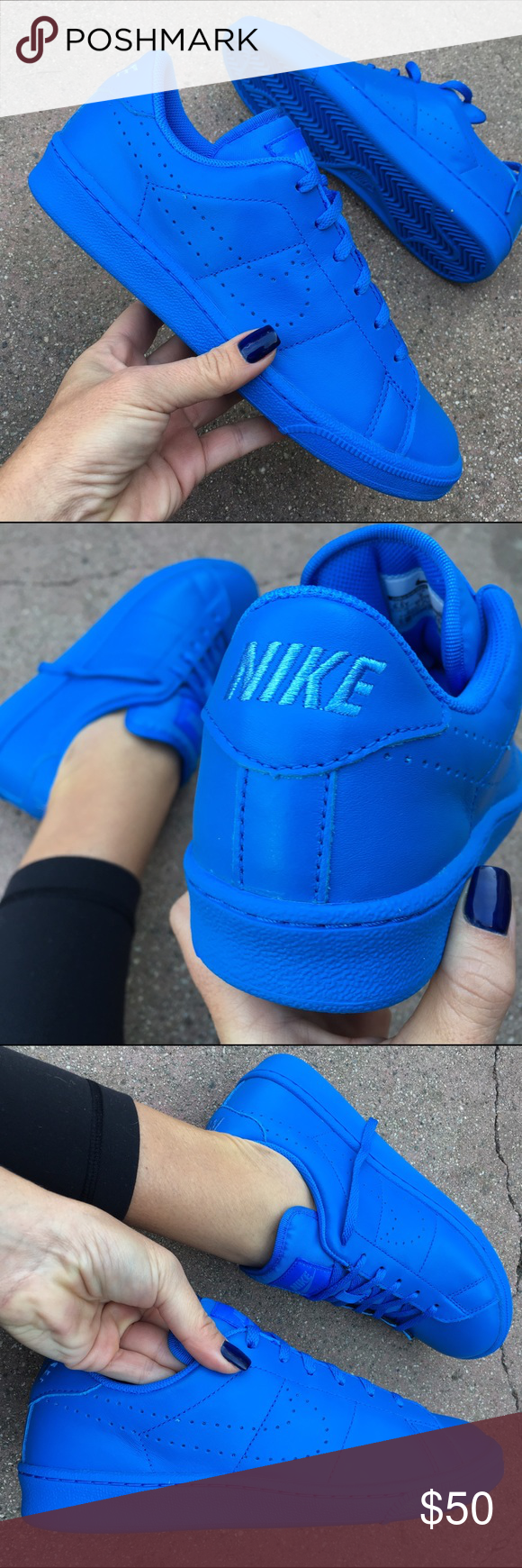 NWB 🎁 NIKE CLASSICS PREMIUM 💙 UNIVERSITY BLUE New never worn NIKE CLASSICS WITH ORIGINAL BOX! Perfect for gift giving 🎁 Size 4 youth approx = 5.5 women Size 4.5 youth approx = 6 women SOLD Size 5 youth approx = 6.5 women SOLD Size 5.5 youth approx = 7 women Size 6 youth approx = 7.5 women Size 6.5 youth approx = 8 women Size 7 youth approx = 8.5 women Please select your woman's size to purchase.  Ships same or next day, smoke free home.  Bundle to save.   PRICE IS FIRM. 100% authentic…