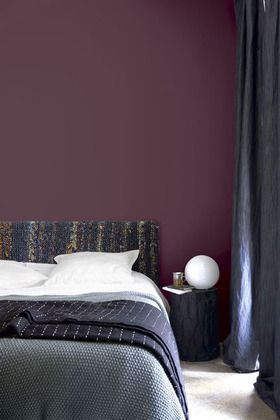 Violet wall   Chambres. Bedroom   Pinterest   Chambres, Couleurs et ...