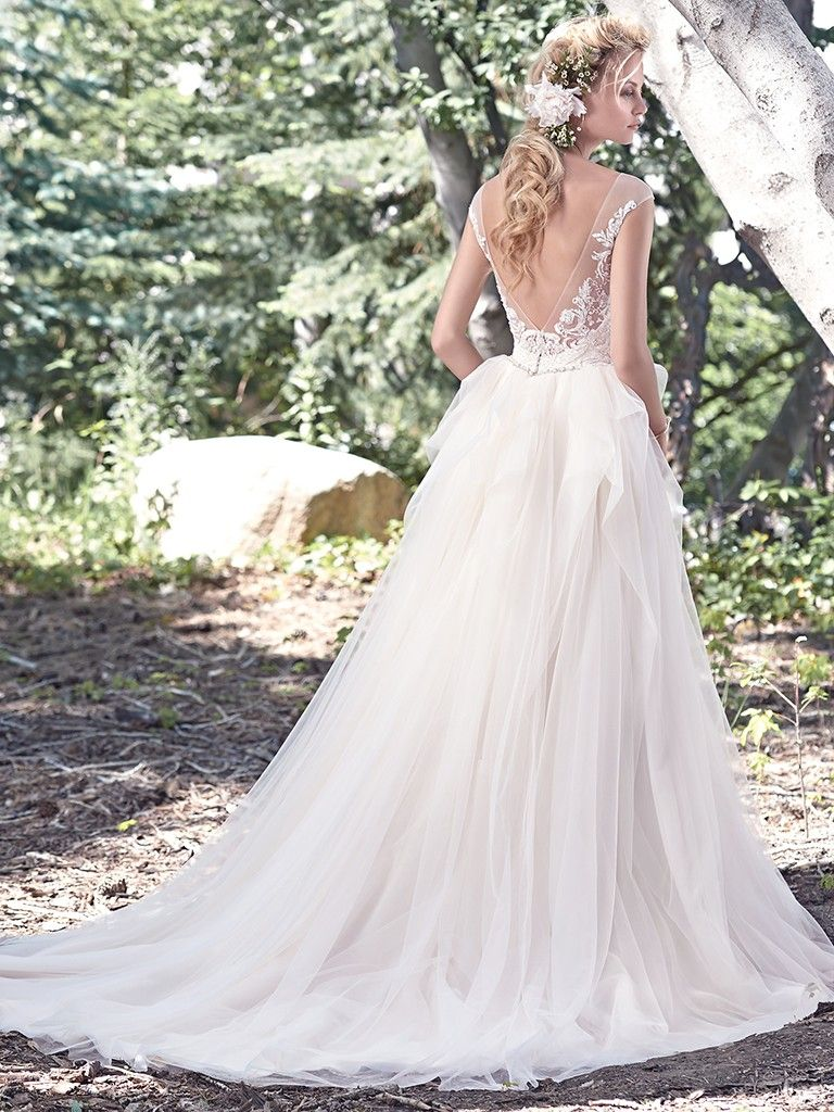 Beautiful, Full Tulle and Lace Ballgown Wedding Dress by Designer ...