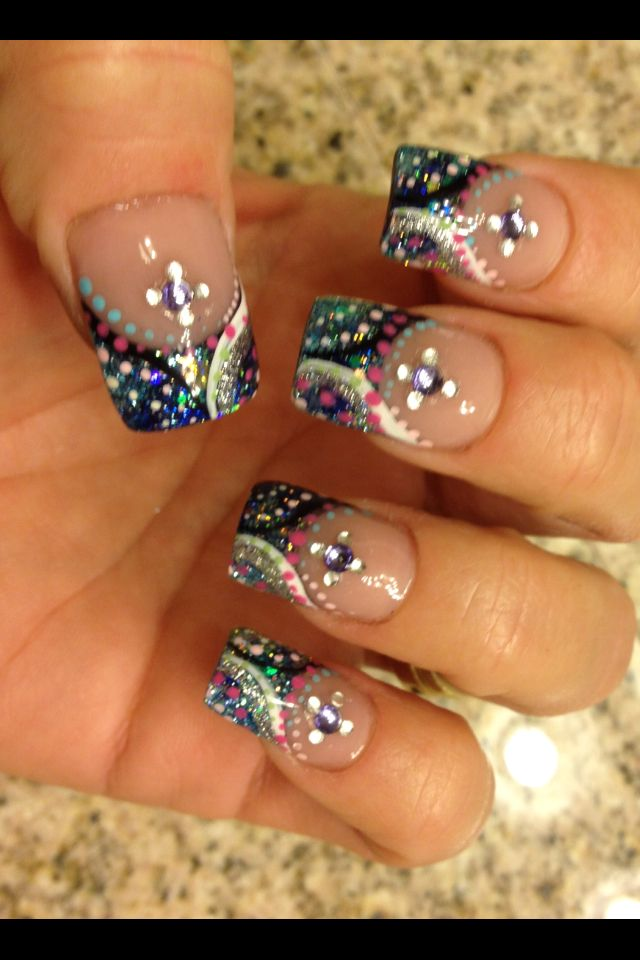 If I did fancy nails... I\'d do these! | Nails | Pinterest | Bling ...