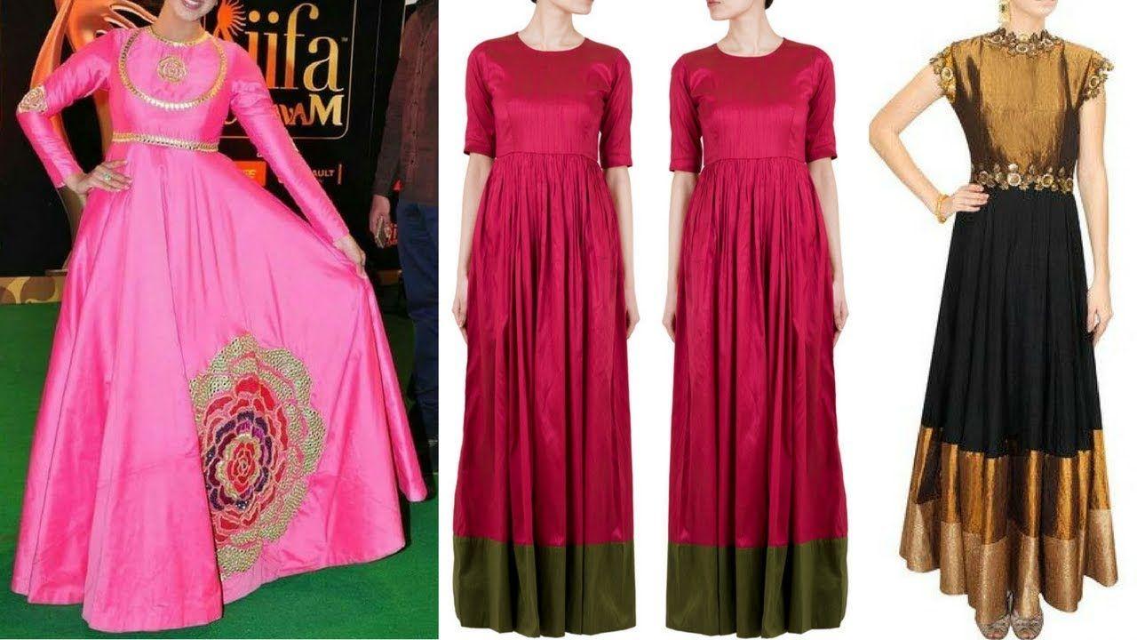 Gown Designs | Gown Dress Design | Raw Silk Dress Designs | Simple ...