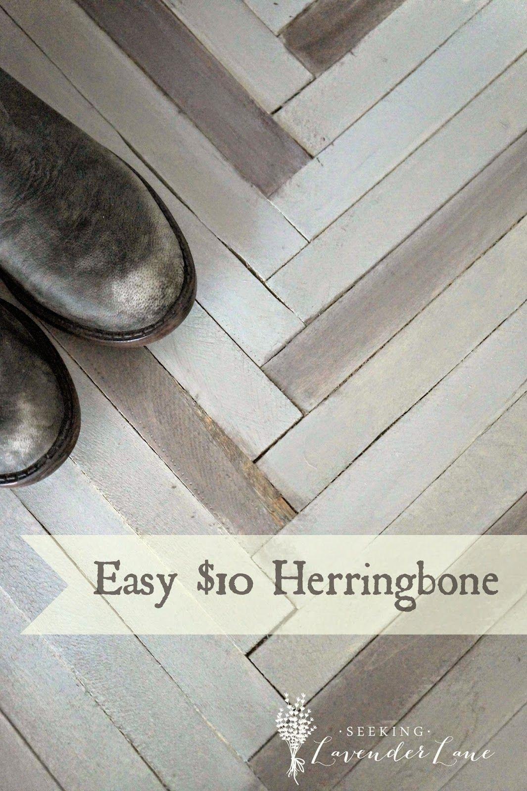 Seeking Lavender Lane: Herringbone DIY for $10