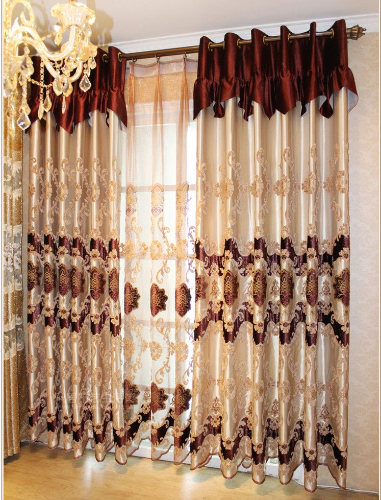 NEW! Decorative window curtain embroidered curtains living ...
