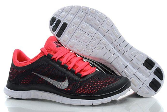 quality design 9a26d 917e9 Womens Nike Free 3.0 V5 Black Red Silver Shoes