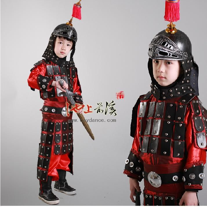 a1b79f60f Ancient Chinese Folk Dance Warrior Clothes Assassins Child Armor Cosplay  Costume Clothing Pirate Kids Costume Hanfu Costume