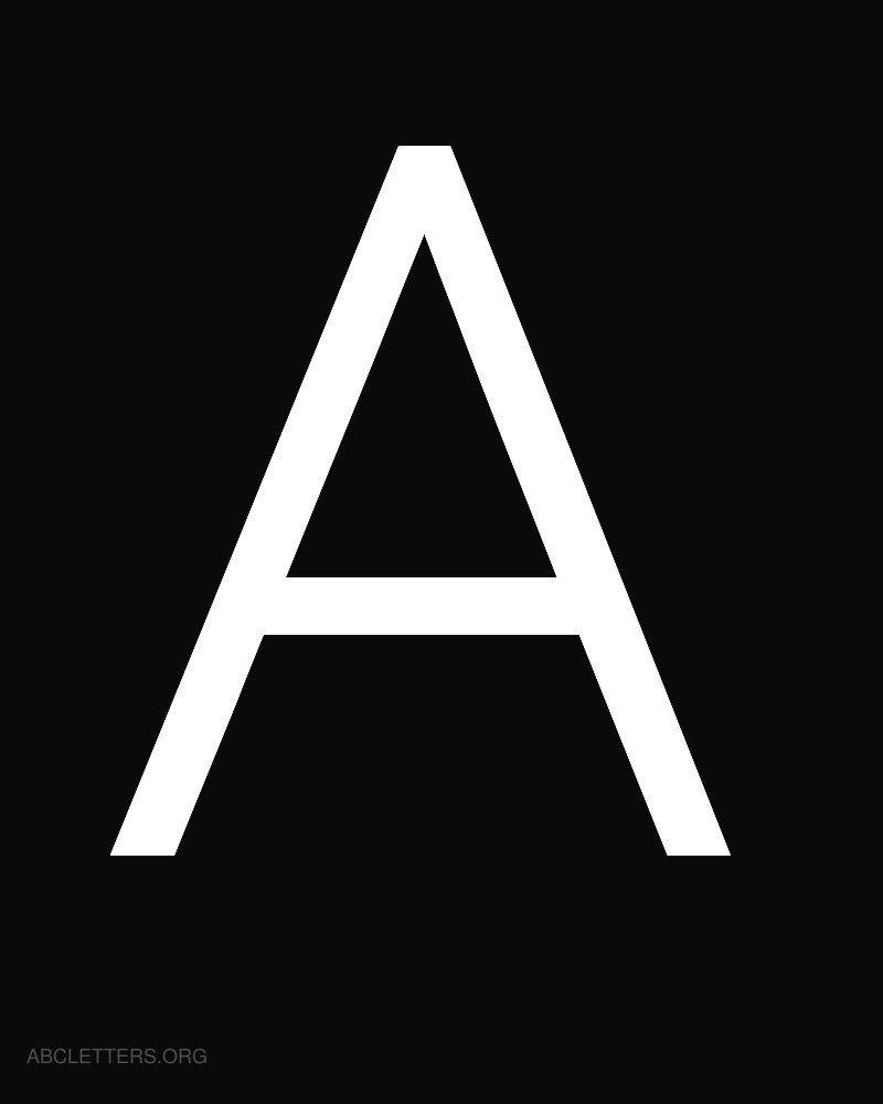 Large Abc Letters White Black A Abc Letters White Letters Lettering