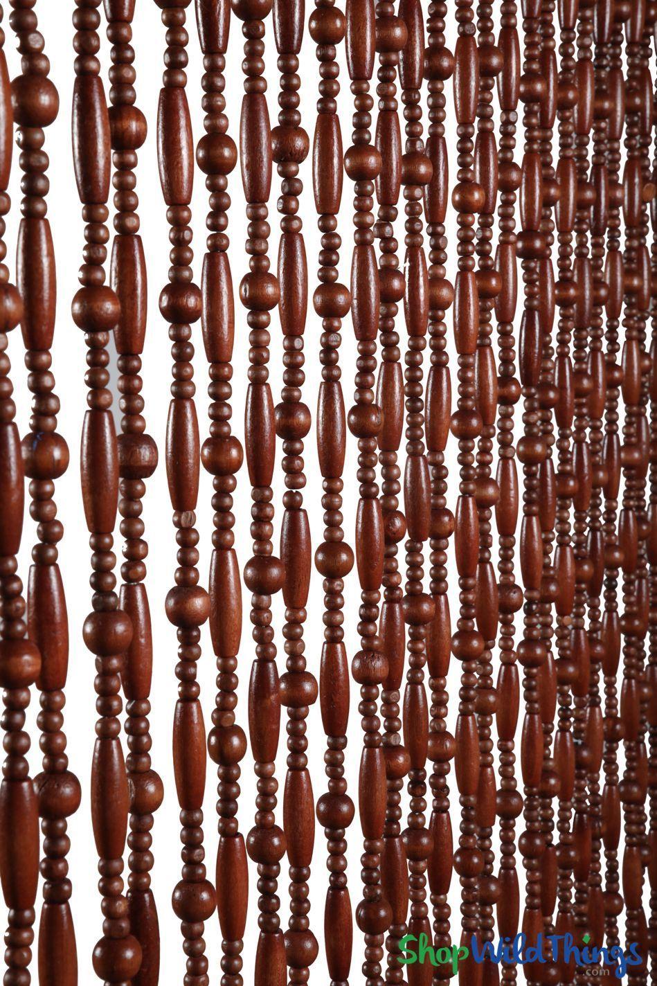 Wooden Bead Curtain Sunnyvale Dark Brown 35 X 78 31 Strands Beaded Curtains Curtains Beaded Door Curtains
