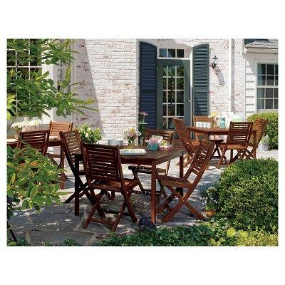 Oxford Garden Capri Square Table - Acacia, Wood Square tables