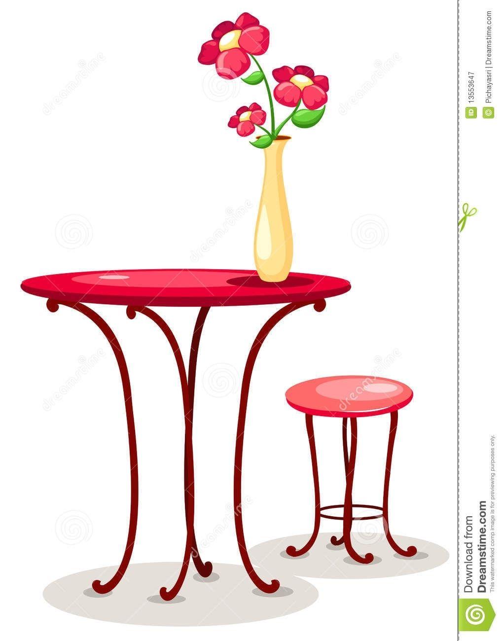 Flower Vase On The Table Clipart Purple Vase Flower Vases Vase