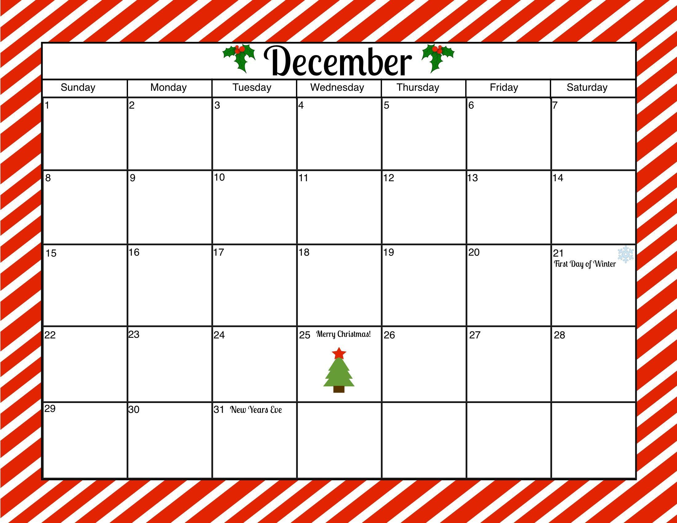 December Calendar Clip Art