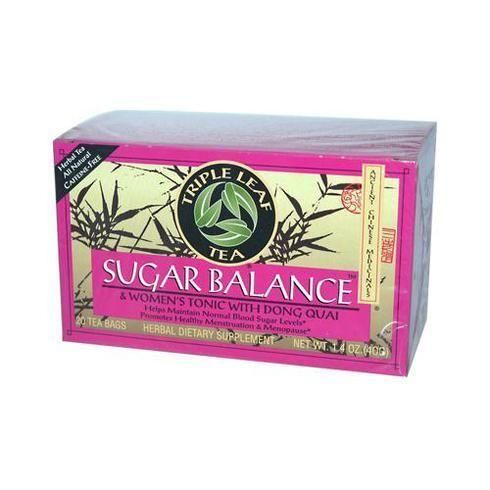 Triple Leaf Tea Sugar Balance Decaffeinated Tea - 20 Tea Bags - Case Of 6