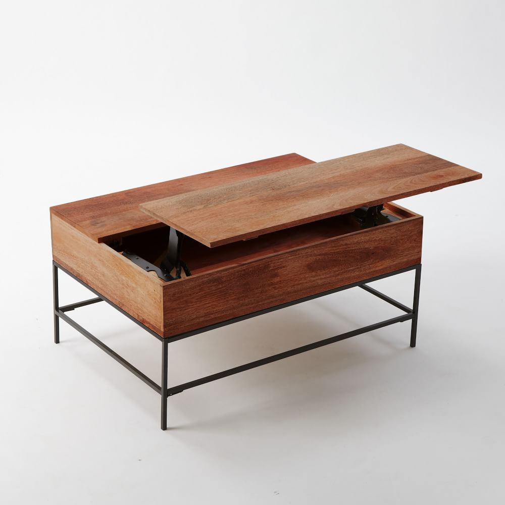 Industrial Storage Pop-Up Coffee Table  Coffee table square