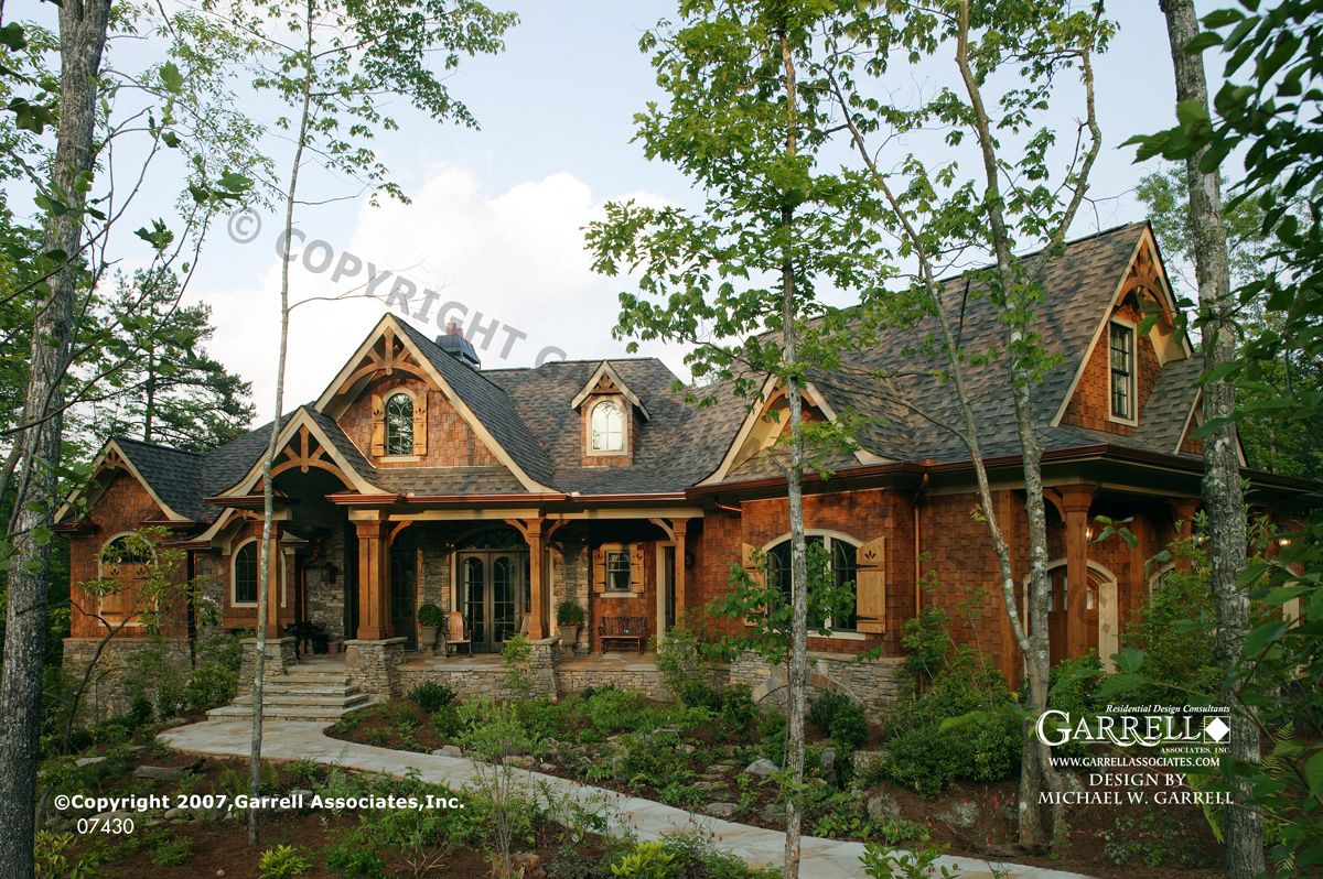 Garrell associates inc tranquility house plan 07430 for Rustic cabin plans