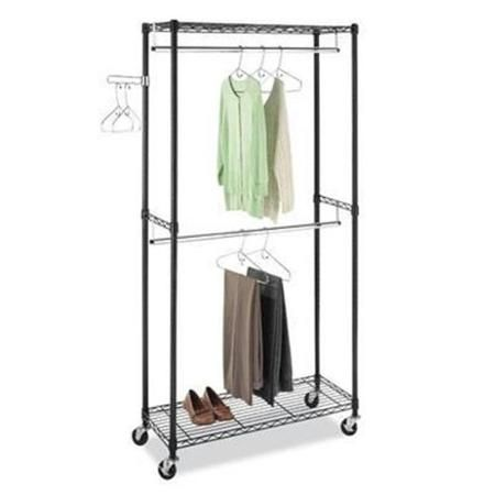 Walmart Clothes Hanger Rack Mesmerizing Supreme Doublerod Garment Rack $70 At Walmartgood Reviews  Yellow Design Inspiration