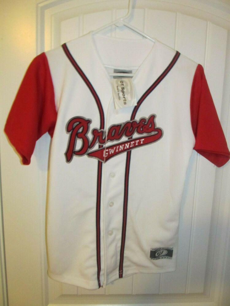 Gwinnett Braves Home Jersey Ot Youth Medium Nwt Ot Gwinnettbraves Braves Jersey Jacket Jersey
