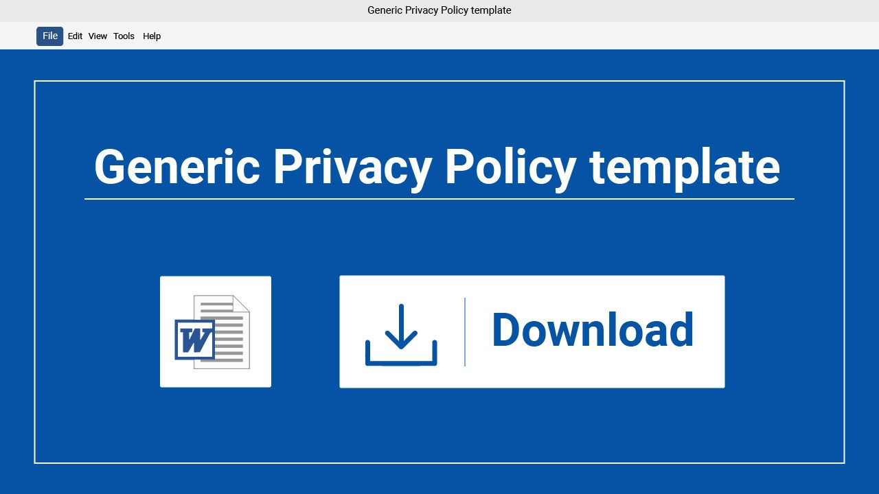 if your website needs a privacy policy download our template and create your own agreement in just minutes its an easy convenient way to stay legally