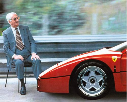 Enzo With His Last Proper Ferrari The F40 Ferrari Ferrari F40 Ferrari Mondial