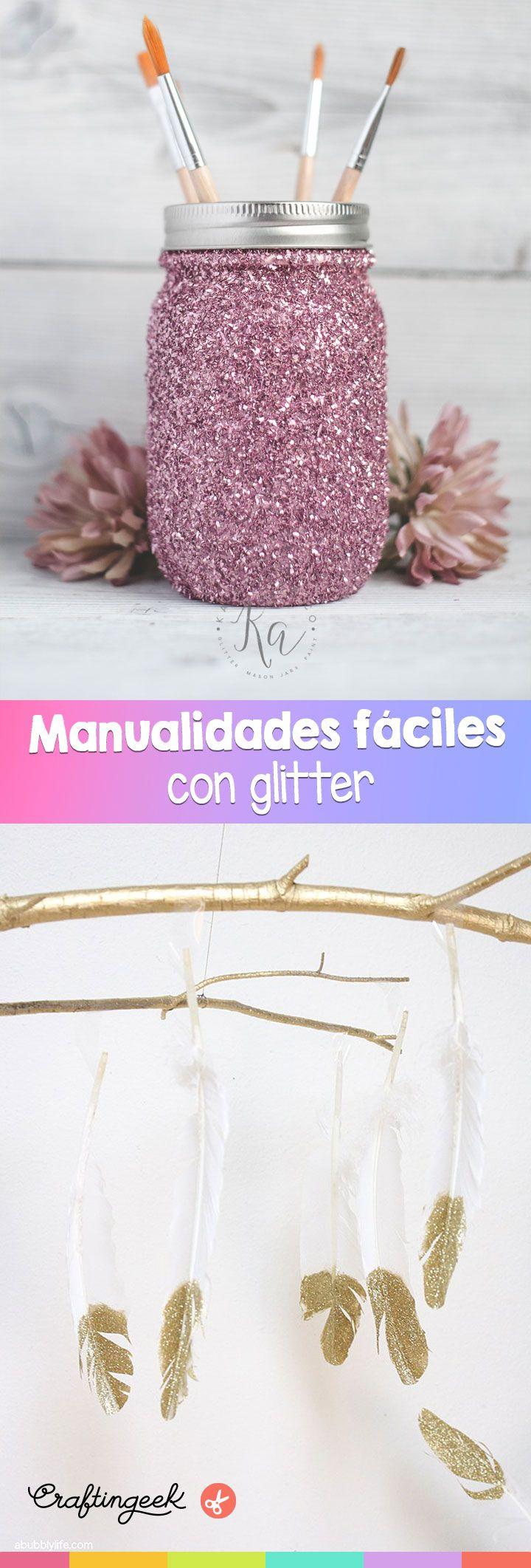 Manualidades fáciles que puedes decorar con glitter