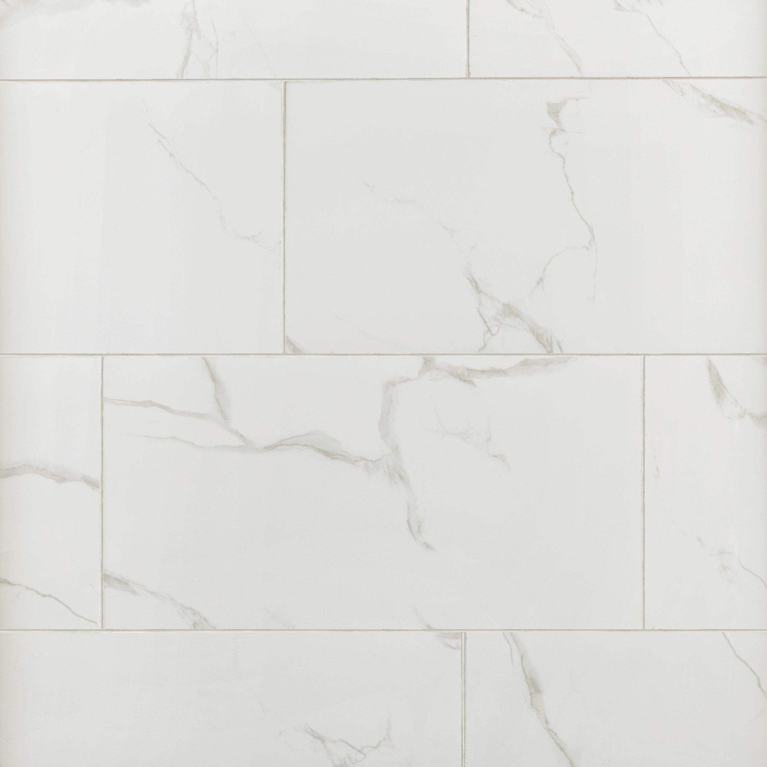 Roman White Porcelain Tile | New Master Bathroom | Pinterest ...