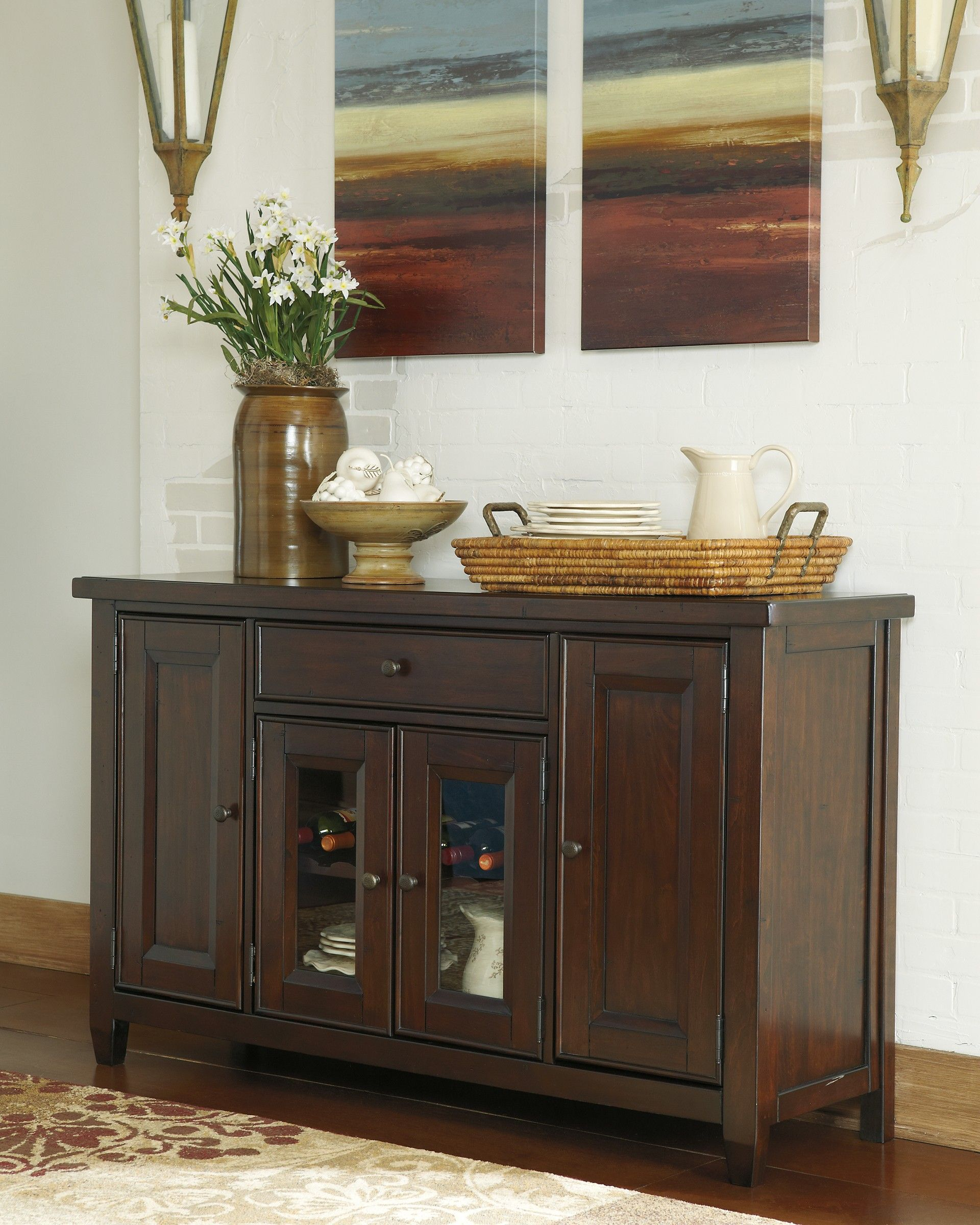 Kitchen Server Furniture Ashley Hindell Park D695 60 Millennium Dining Room Server Dining