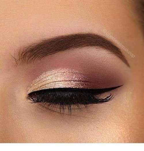Altın Işıltılı Abiye Göz Makyajı - #Abiye #Altın #göz #Işıltılı #Makyajı #glittereyemakeup