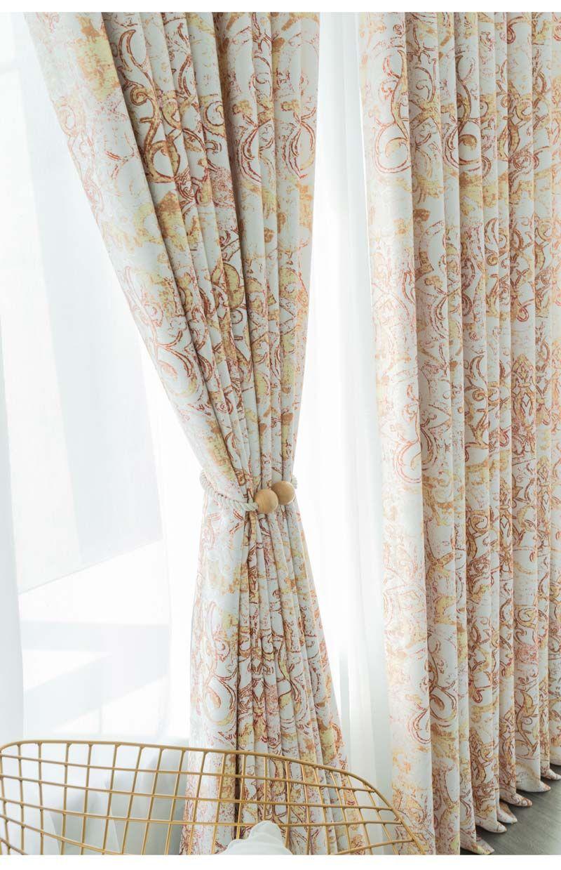 Rideaux Design Pour Chambre rideau occultant en polyester imprimé rayure d'herbe pour