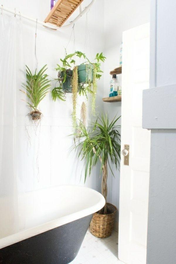 48 Bathroom Interior Ideas With Flowers And Plants - Ideal For - pflanzen für badezimmer