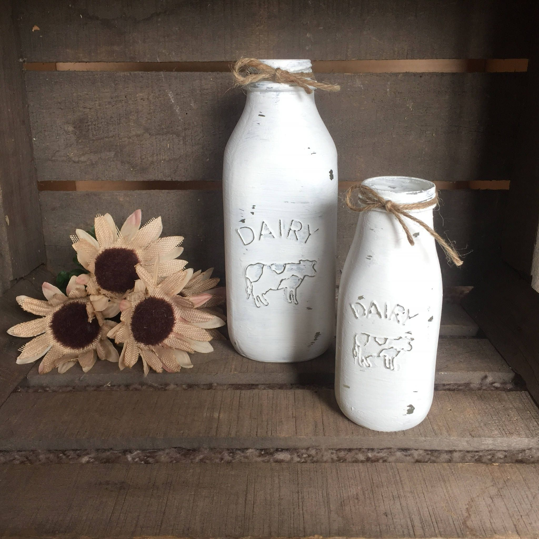 This listing is for one (1) large rustic antique white