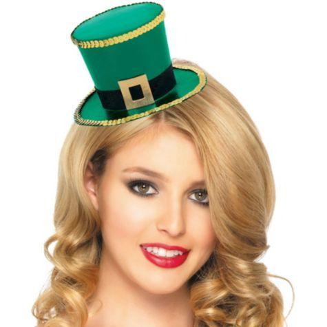 St. Patricks Day Top Hat Fascinator   Party City 1d0a5b0d4f3
