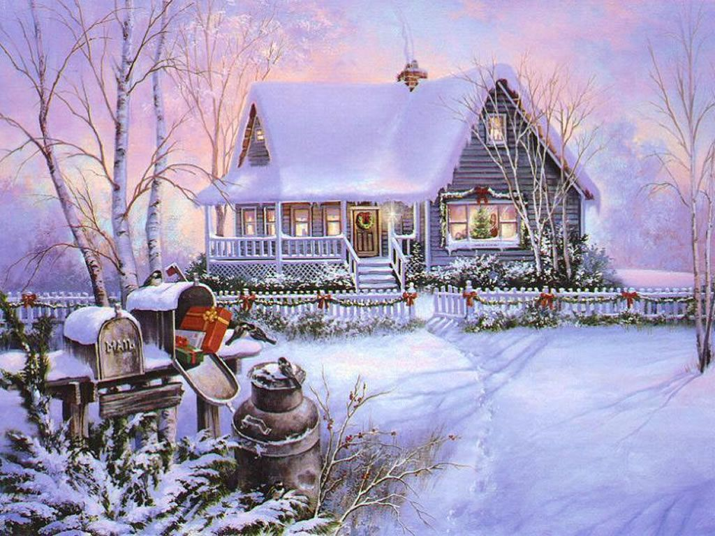 Christmas house with snow art - Victorian Christmas Snow Scenes Christmas Art 03 Christmas Winter Scenes Wallpaper Image