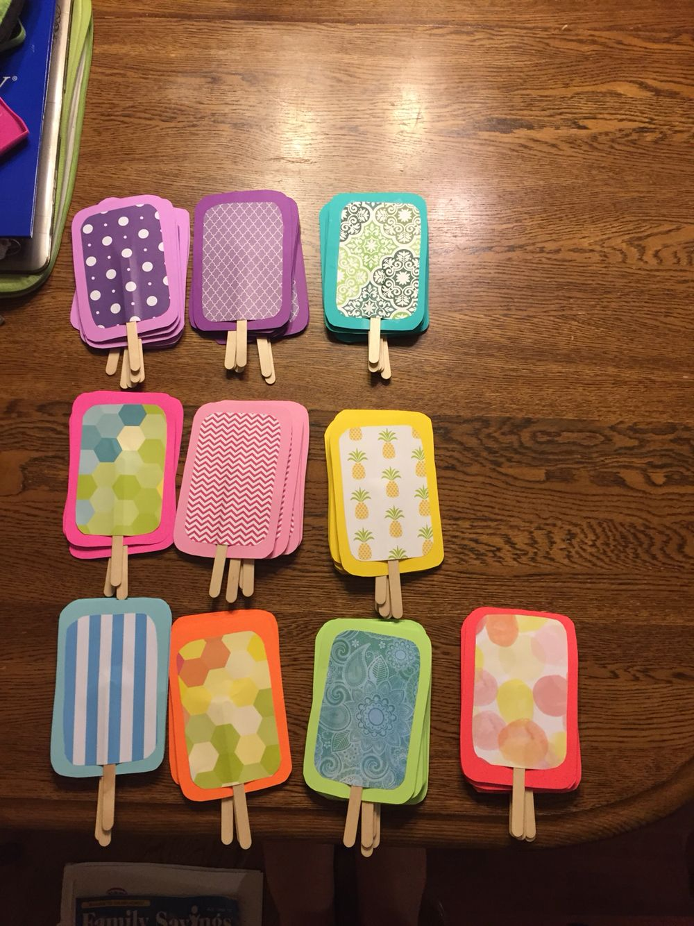 Popsicle Door Decs Made With Solid Color Paper Decorative Paper