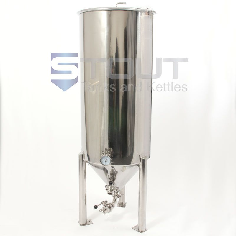Cf80tw Fv Coil 333 80 Gallon Conical Fermenter With Cooling Coil