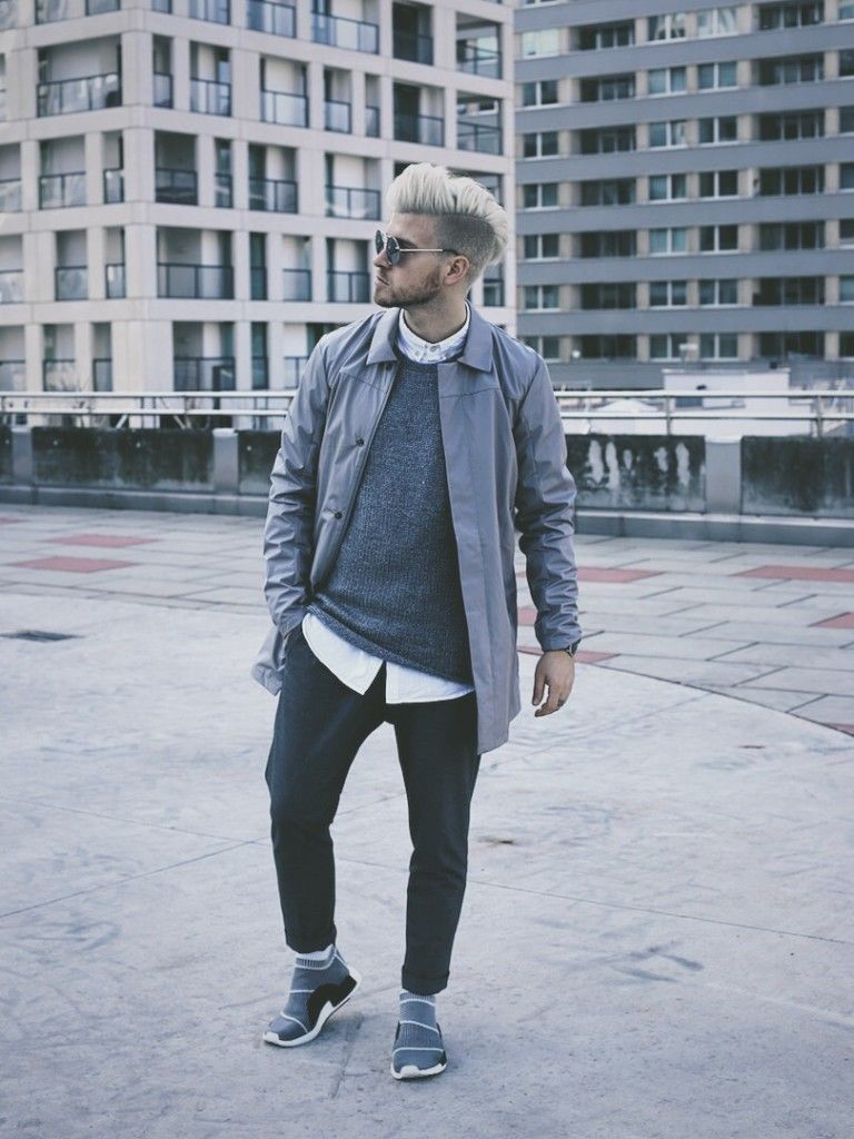 buy popular e4750 f6416 Pin by Patrick Tran on Street Style | Nmd city sock, Grey ...