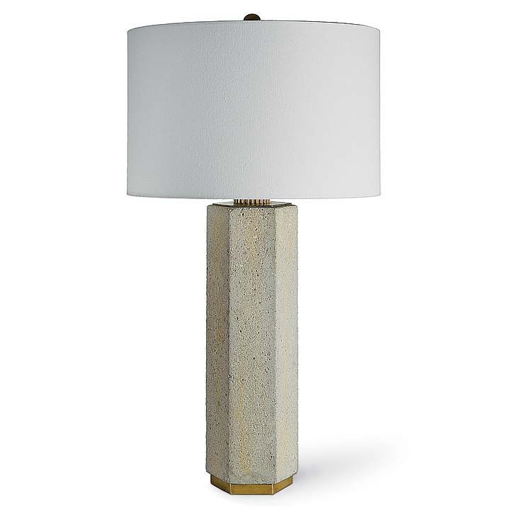 Concrete and Brass Table Lamp | Brass table lamps ...