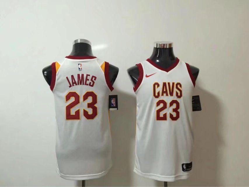 034bbee98b436 Nike NBA Cleveland Cavaliers  23 LeBron James Jersey 2017 18 New Season  White women dress