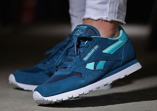 Reebok Classic Leather SC Split Blue Teal