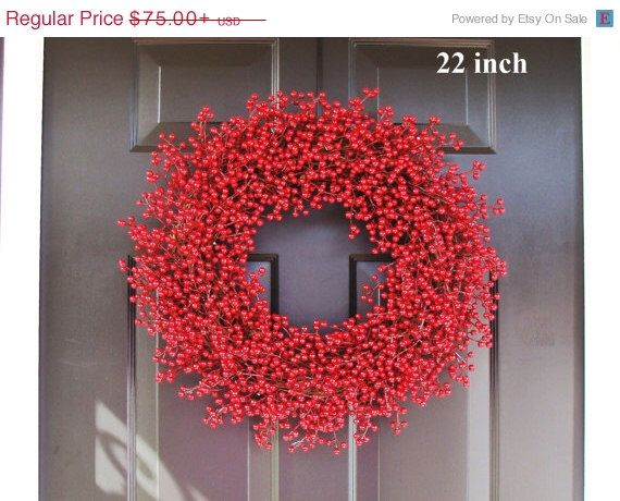 Winter Wreath, Christmas Wreath, Holiday Decor, ALL WEATHER Christmas Wreath, Valentine's Day Wreath, In Better Homes and Gardens by ElegantWreath on Etsy https://www.etsy.com/ca/listing/210751598/winter-wreath-christmas-wreath-holiday