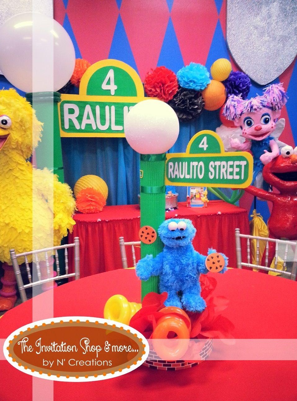 Stupendous Adorable Sesame Street Centerpieces Sesame Street Birthday Interior Design Ideas Tzicisoteloinfo