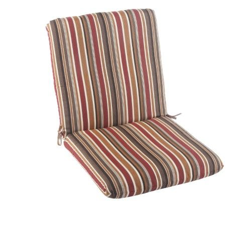 Casual Cushion Sunbrella Brannon Redwood Striped Hinged Outdoor Club