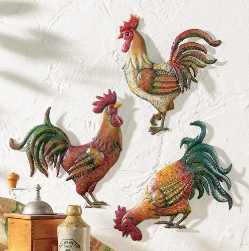 French country farm rooster wall art trio by collections etc by collections http