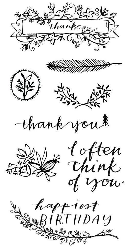 Illustrated Art Stamps by Fawnsberg | ☆letras | Pinterest ...