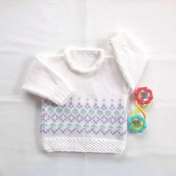 Baby Fair Isle sweater Baby girl sweater Baby by LurayKnitwear ...