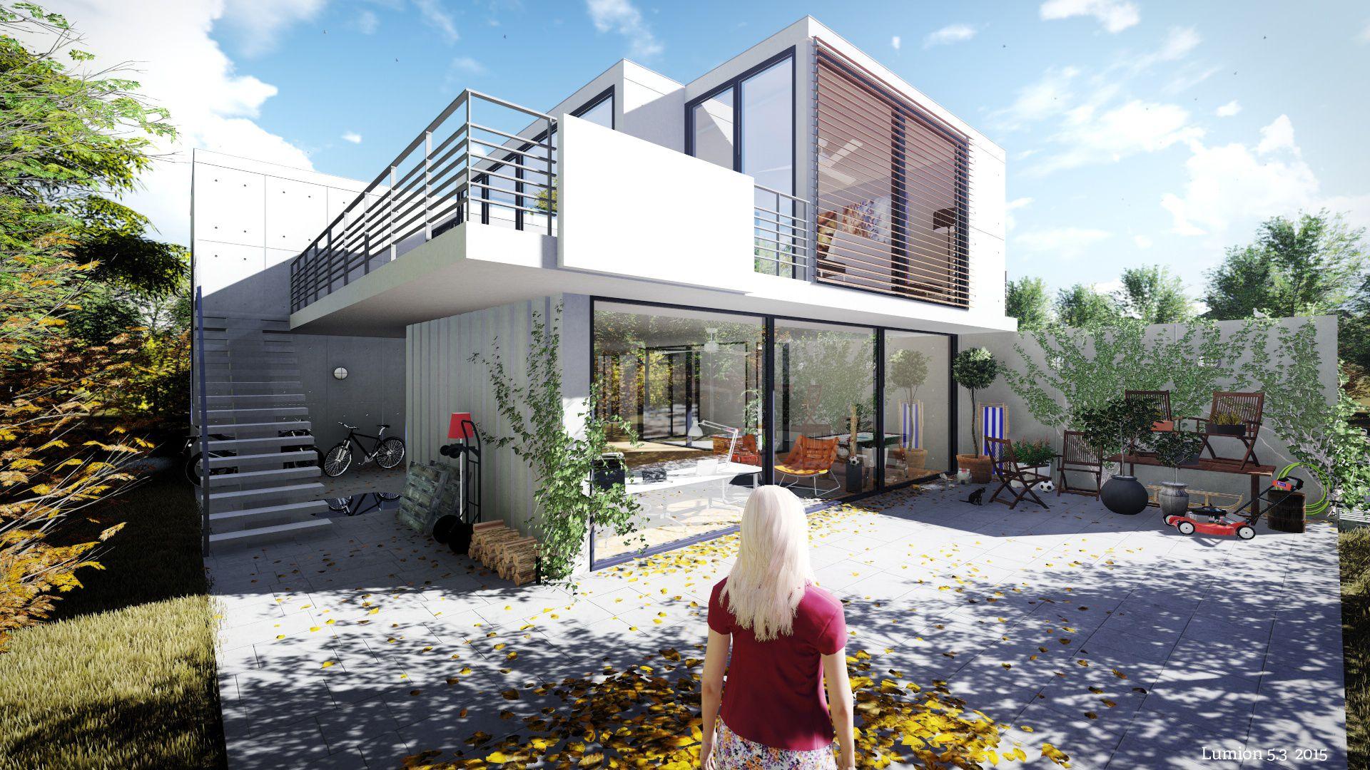 visualisierung eines einfamilienhauses lumion 5 3 lumion 3d bilder pinterest. Black Bedroom Furniture Sets. Home Design Ideas