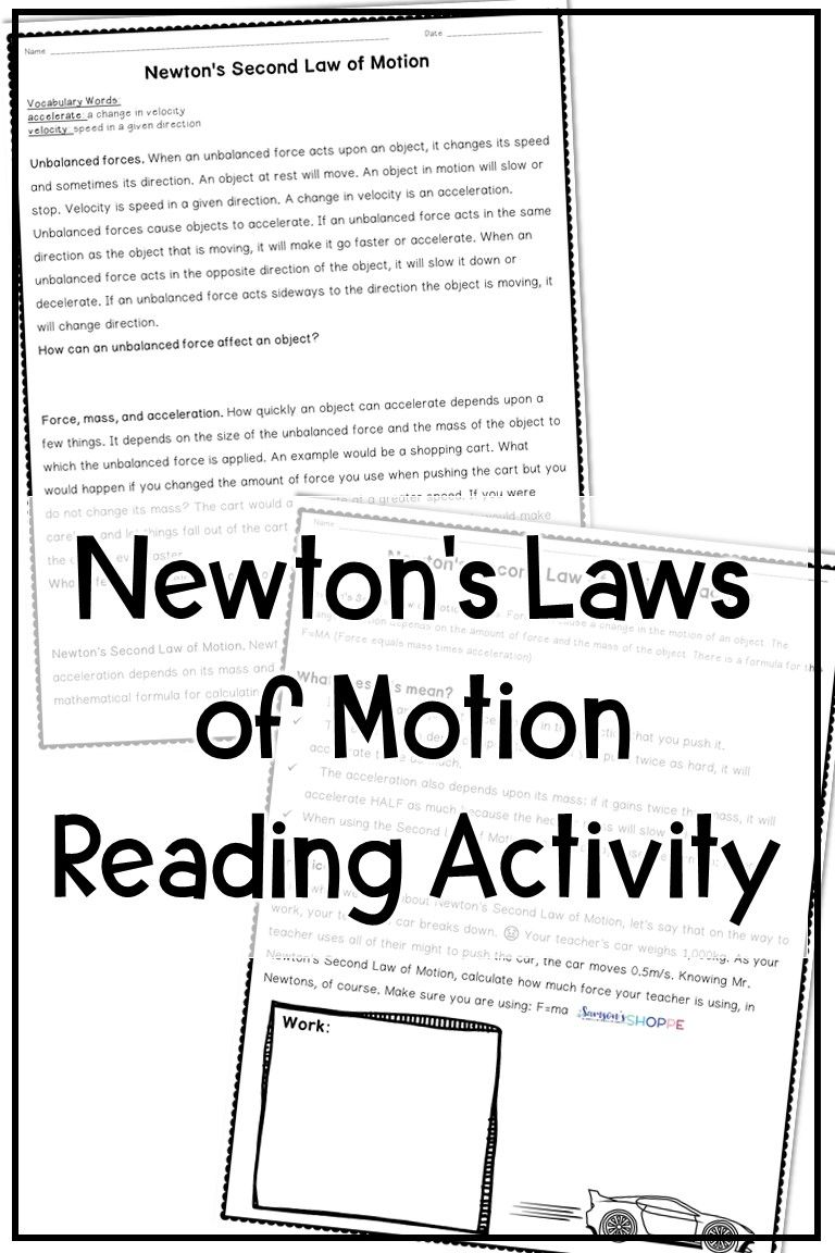 - Newton's Laws Of Motion Activity (With Images) Reading