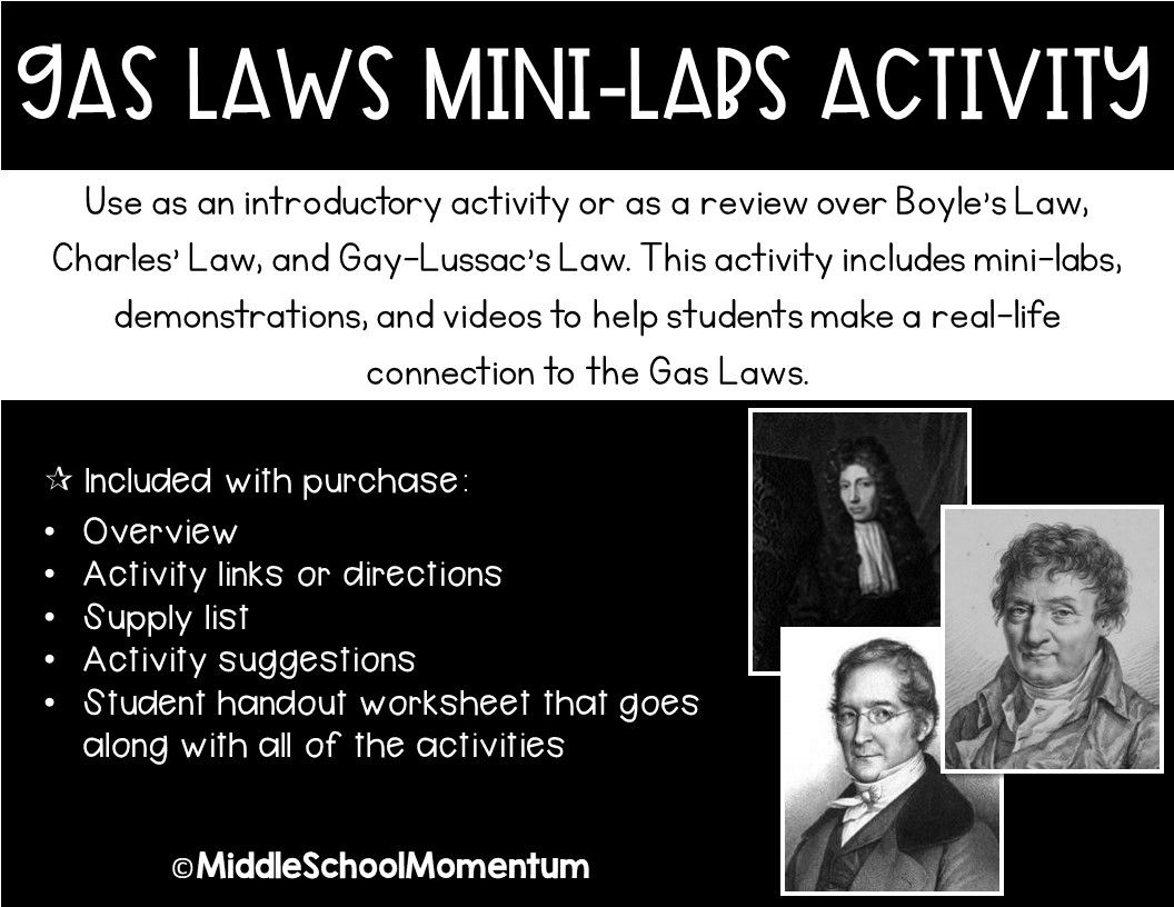 Gas Laws Mini Labs Activity