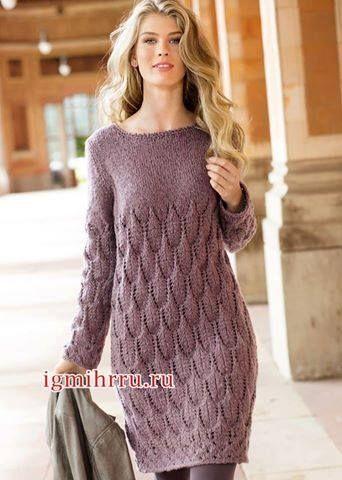 96fcc9143 Patrón #1764: Vestido a Dos Agujas ~ CTejidas [Crochet y Dos Agujas ...
