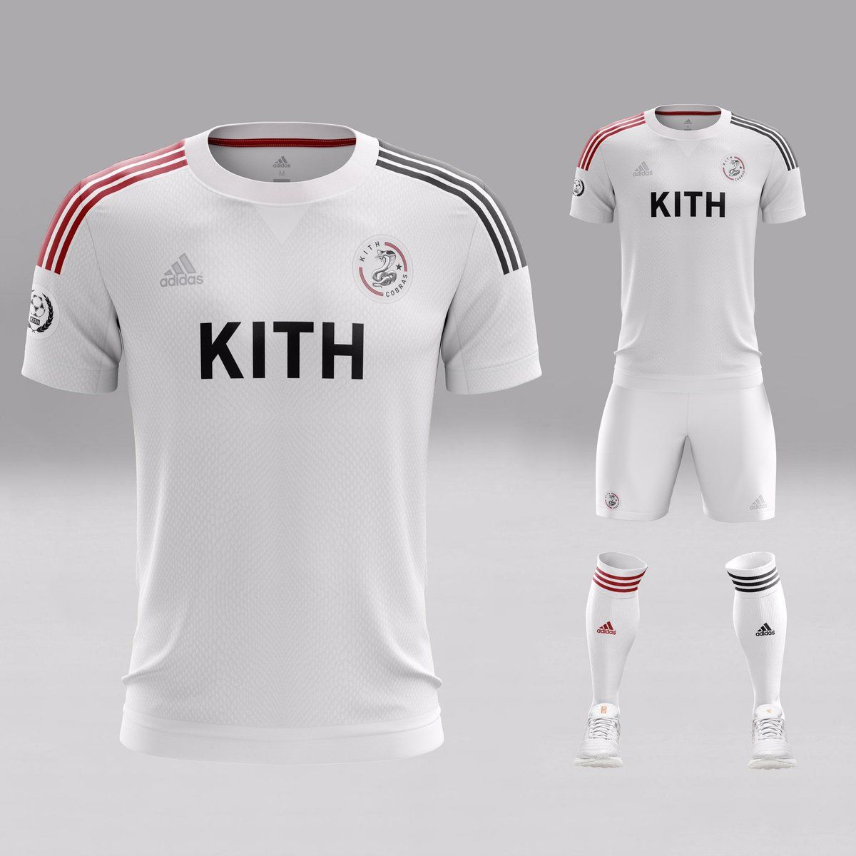 The new Adidas x Kith football kits boast extraordinary unique designs. 000c43d93