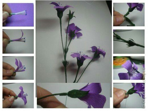 These are beautiful crepe flowers. Full instructions but need to use Google translate if you want more than the pictures