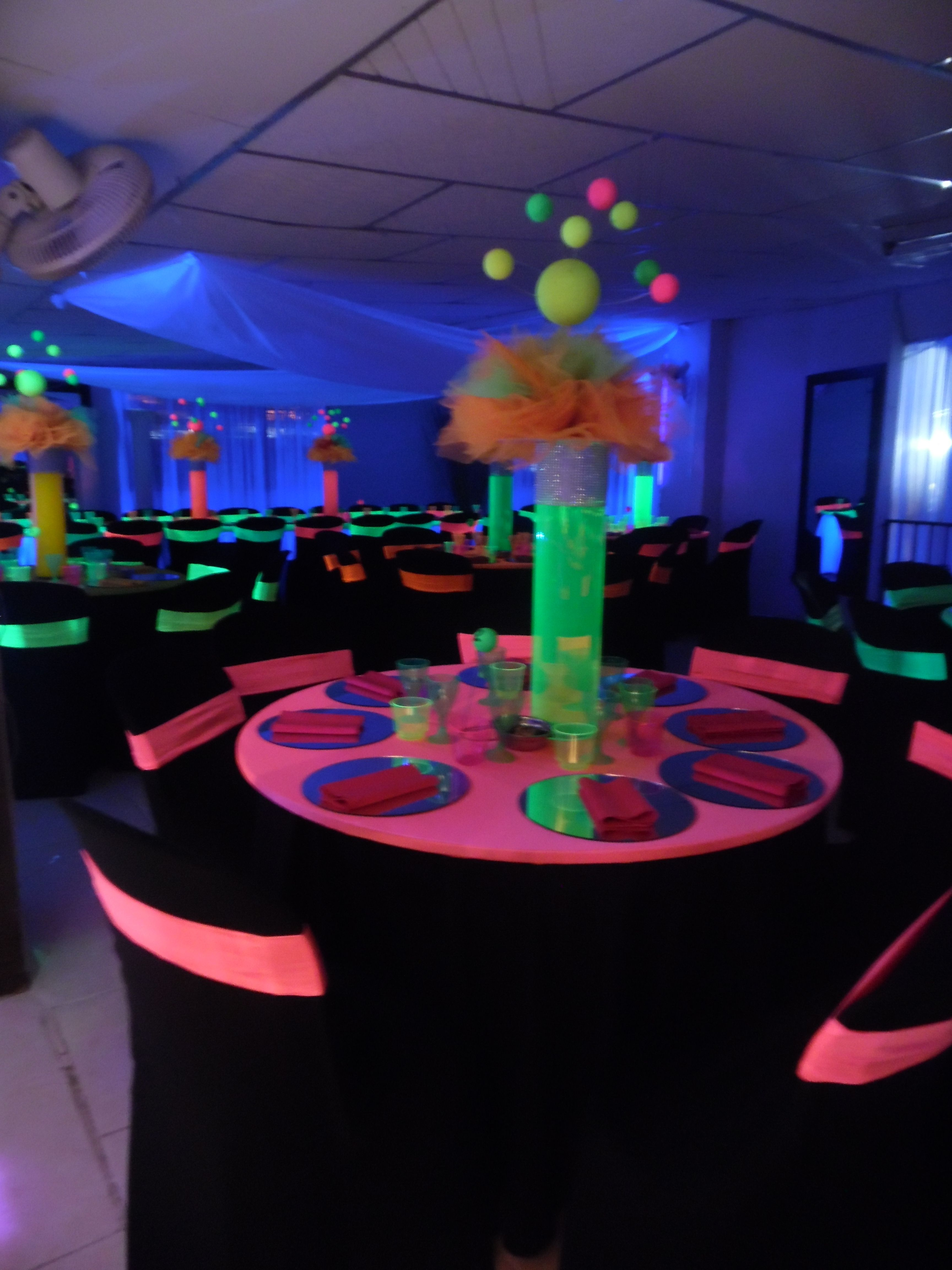 Fiesta Neon Glow Party Decorations Neon Birthday Party